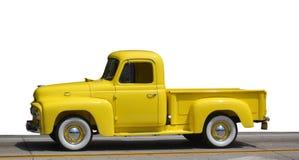 模型卡车黄色 免版税库存照片