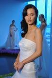 模型在秋天2015新娘汇集Pamella罗兰特介绍时摆在 免版税库存图片