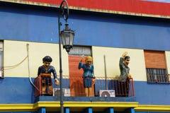 模型在Caminito,拉博卡,布宜诺斯艾利斯 库存图片