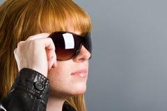 模型太阳镜 免版税库存图片
