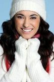 模型微笑的冬天 免版税图库摄影