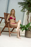 模型手段热带年轻人 图库摄影