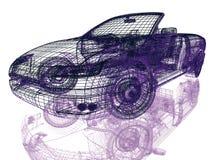 模型汽车框架在白色的 库存照片