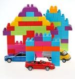 模型汽车,塑料线路所 图库摄影