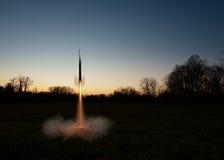 模型火箭队Lauch 免版税库存图片