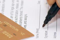 模型版本签字 免版税库存图片