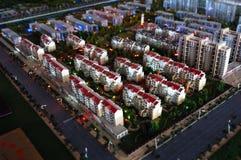 模型缩放比例住宅区 库存图片