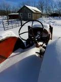 模型老拖拉机轮子 图库摄影