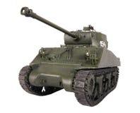 模型谢尔曼坦克 免版税库存图片