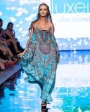 A model walks the runway at Miami Swim Week 2019