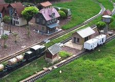模型铁路城镇 免版税库存图片