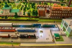 模型铁路 图库摄影