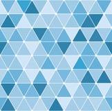 模式三角冬天 库存照片
