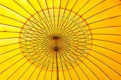 模式伞黄色 库存图片
