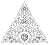 模式向日葵三角 图库摄影