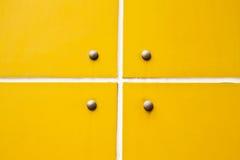 模式墙壁黄色 库存图片