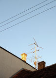 模式天线屋顶电视 库存图片