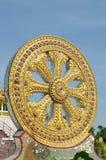 模式寺庙,路辗石头在泰国 库存照片