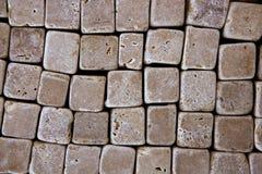 模式方形石头构造瓦片 免版税库存图片