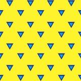 模式无缝的三角 免版税库存照片