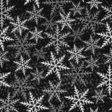 模式无缝的冬天 库存例证