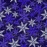 模式无缝的冬天 免版税库存照片
