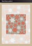 模式无缝的冬天 免版税图库摄影