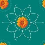 模式无缝的向日葵 免版税库存图片