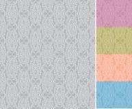 模式无缝的向量墙纸 库存例证