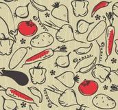 模式无缝的向量蔬菜 库存图片