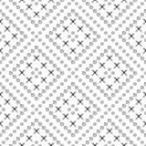 模式无缝的向量 与手拉的圈子、十字架和线的黑白几何背景 简单的设计 库存照片