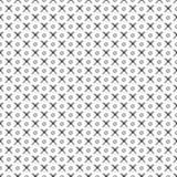 模式无缝的向量 与手拉的圈子和十字架的黑白几何背景 简单的设计 免版税库存照片