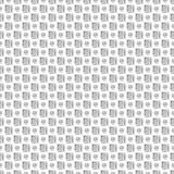模式无缝的向量 与手拉的正方形和圈子简单设计的黑白几何背景 图库摄影