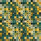 模式无缝的向量 包括几何元素 元素有一种方形的形状和不同的颜色 免版税库存照片