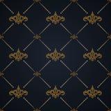 模式无缝的向量 在维多利亚女王时代的样式的现代时髦的纹理设计 装饰巴洛克式的背景 花卉华丽 库存例证