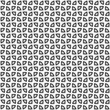 模式无缝的向量 抽象形状纹理 黑白背景 单色切片设计 向量例证