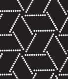 模式无缝的向量 现代几何小点背景 向量例证