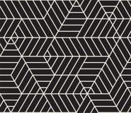 模式无缝的向量 现代时髦的抽象纹理 重复几何瓦片 免版税库存照片