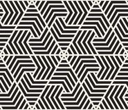 模式无缝的向量 现代时髦的纹理 重复从镶边三角elementsr的几何盖瓦 免版税库存照片