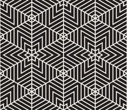 模式无缝的向量 现代时髦的纹理 重复从镶边三角elementsr的几何盖瓦 免版税库存图片