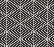 模式无缝的向量 现代时髦的纹理 重复从镶边三角elementsr的几何盖瓦 免版税图库摄影