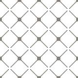 模式无缝的向量 现代时髦的纹理 重复有被加点的菱形的几何瓦片 库存图片