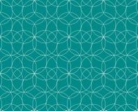 模式无缝的向量 现代时髦的纹理 重复几何瓦片 盘旋同心 图库摄影