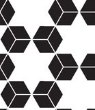 模式无缝的向量 现代时髦的线,几何的六角形 向量例证