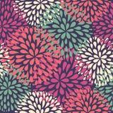 模式无缝的向量 现代花卉纹理 免版税库存照片