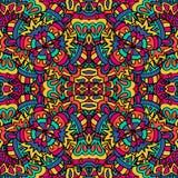 模式无缝的向量 种族几何印刷品 五颜六色的重复的背景纹理 织品,布料设计,墙纸 库存照片
