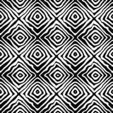 模式无缝的向量 装饰元素,与黑白线的设计模板 免版税库存图片