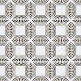 模式无缝的向量 重复与圈子的抽象背景 免版税库存图片