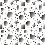 模式无缝的向量 重复几何图 库存照片