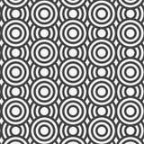 模式无缝的向量 重复几何瓦片 盘旋同心 皇族释放例证